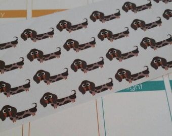Dapple Dachshund Stickers! Dog Stickers! Perfect for your Erin Condren Life Planner, calendar, Paper Plum, Filofax!