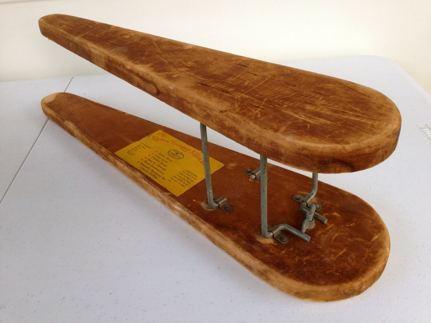 vintage wooden ironing sleeve board the queen. Black Bedroom Furniture Sets. Home Design Ideas