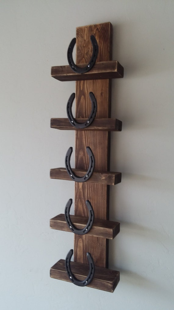 items similar to rustic horseshoe wine rack on etsy