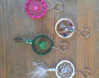 Dream catcher key chain.  Varites of colour and designs.