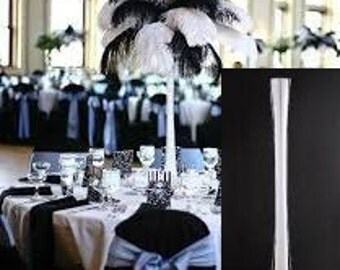 Set of 6 - 24inch Eiffel Tower Glass Vase Wedding Centerpiece for Ostrich Feather or Flower
