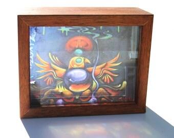 """Hosier Lane Melbourne Street Art Lightbox """"Golden Bird"""""""
