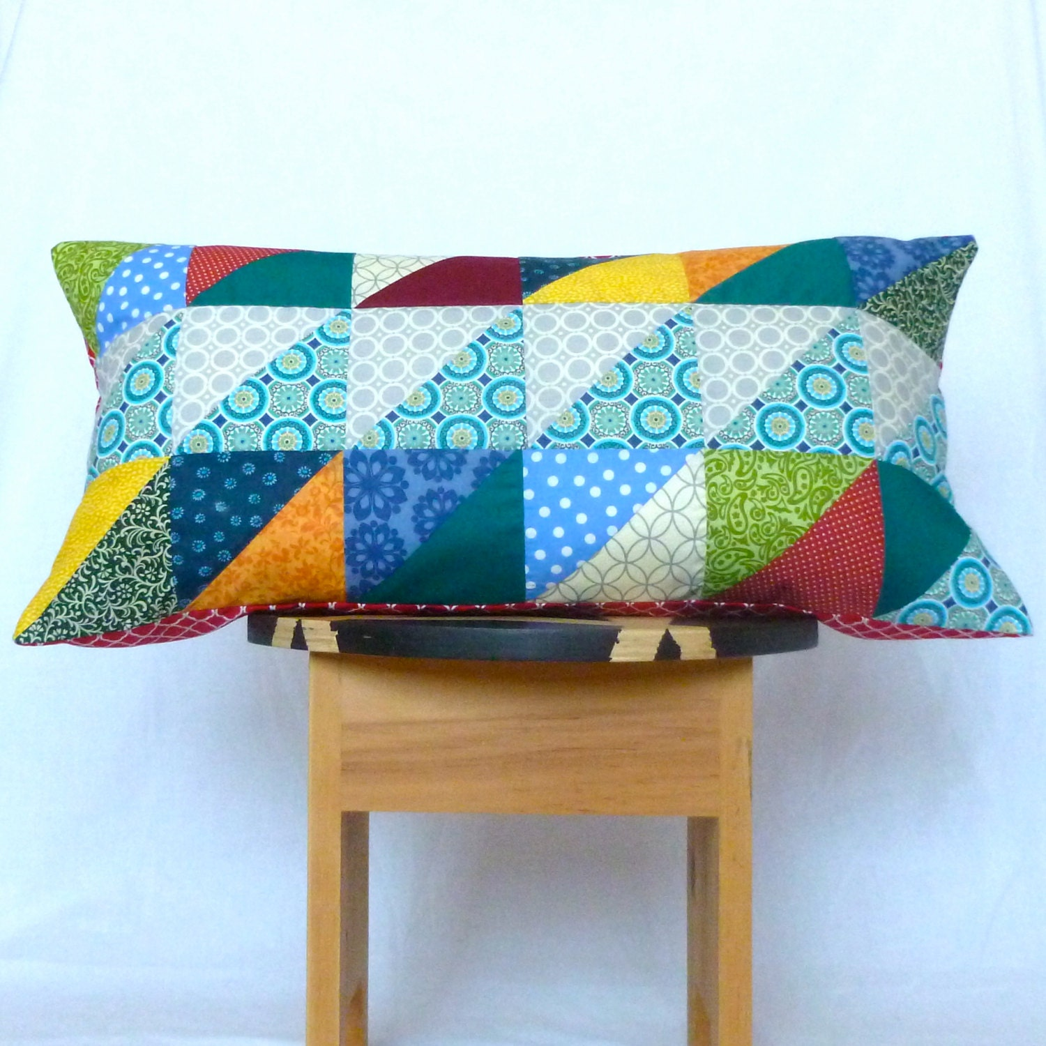 Lumbar Pillow Cover Rectangle Removable Pillow By