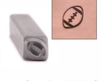 Football Metal Design Stamp 6mm x 4.5mm, Sports Metal Stamps - Metal Stamping / Punch Tools Metal Stamped DIY Jewelry Making Tools (DS400)