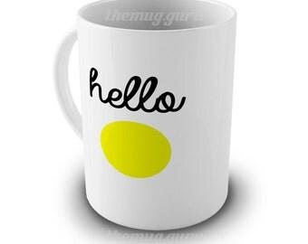 Personalised Funny Mug - Hello sun