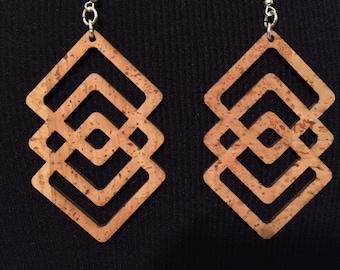Long Geometric Earrings