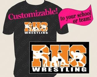 Wrestling Shirt - Team, School, Mascot, Custom Spirit T-Shirt, Personalized Tshirt
