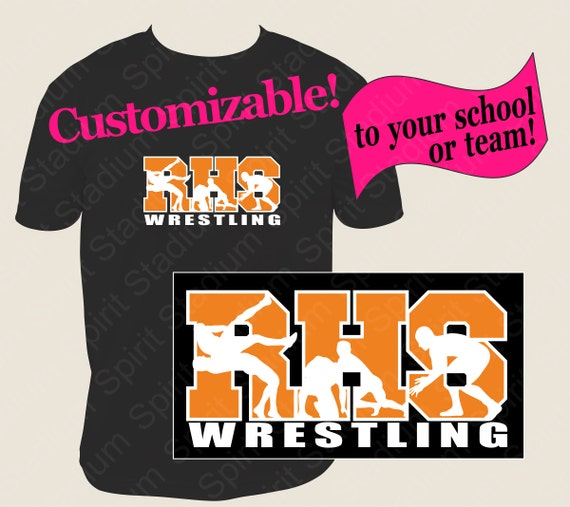 Wrestling Shirt Team School Mascot Custom Spirit T Shirt