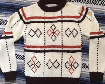 Vintage 100% Virgin Acrylic Sweater Size S/M