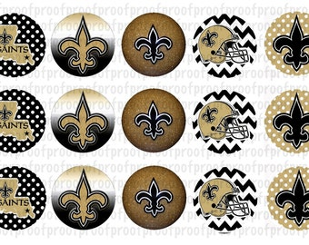 New Orleans Saints Inspired Bottle Cap Images