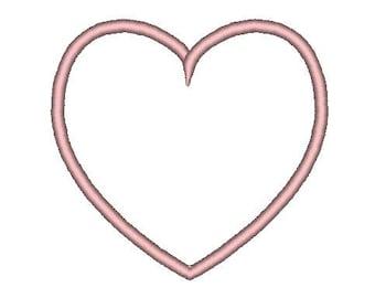 Heart Applique Embroidery Design, Small Heart Applique 5 Sizes, Big Heart Applique Embroidery, Heart Appliques, Instant Download applique