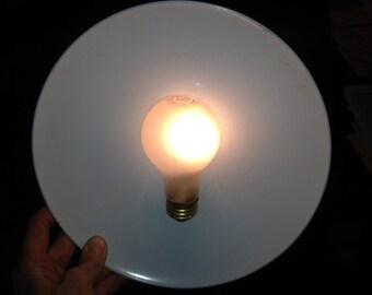 ATOMIC LAMP mounted on Melmac plate