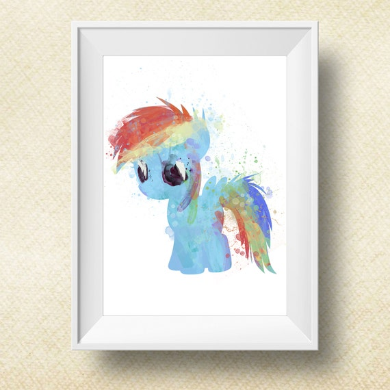 Rainbow Dash Pictures To Print Pony Rainbow Dash Print My Little Pony Print by PrintsForKids