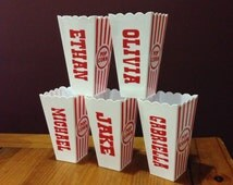 SET OF 5 Popcorn tub Party Favor- Popcorn Box- Childrens Party Favor- Popcorn Container