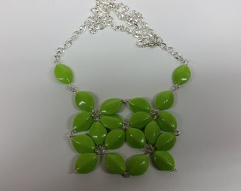 Lime Green Small Statement Necklace