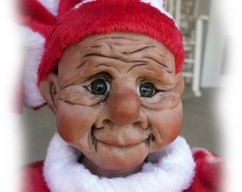 Pookie, A OOAK Lil Darlin' Original BareFoot Santa Elf, from the BareFoot Santa Elf Series