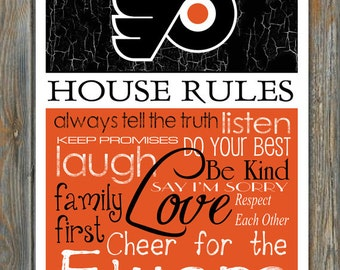 """Philadelphia Flyers House Rules 8x10 Glossy Photo """"Great for Framing"""""""
