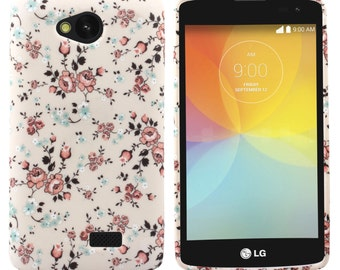 LG F60 Tribute Transpyre Flowery Vines Soft and Flexible TPU Silicon Case