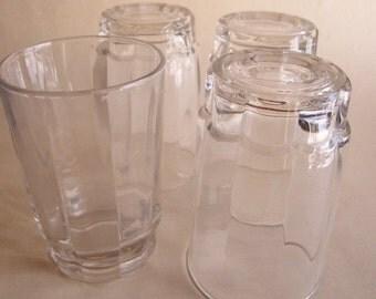 Vintage juice glasses or tumblers  Arcoroc USA  4 glasses