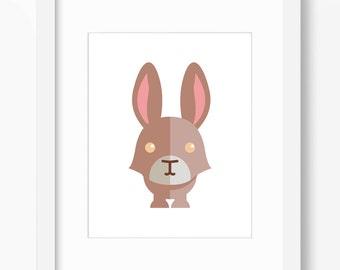 Bunny Print, Bunny Art, Rabbit Print, Nursery Art, Nursery Print, Nursery Bunny Print, Nursery Bunny Art, Kids Bunny Art, Kids Bunny Print