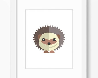Hedgehog Print, Hedgehog Art, Nursery Art, Nursery Print, Nursery Hedgehog Art, Nursery Hedgehog Print, Kids Hedgehog Art, Kids Hedgehog