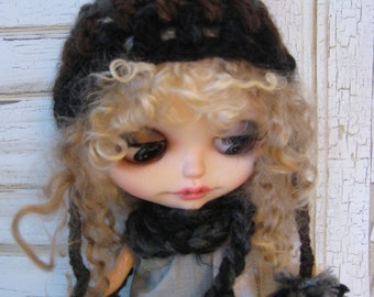 Blythe Crocheted Hat and Scarf Combo