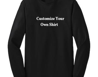 Custom Shirt Personalized Long Sleeve Cotton Shirt