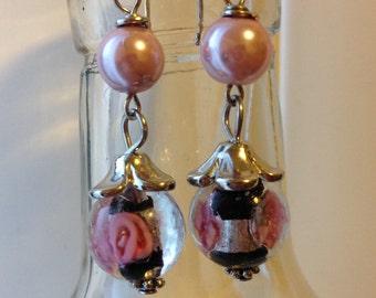 Dangling beaded earrings