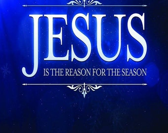 """Jesus is The Reason For The Season Christmas Decorative Banner 12""""x18"""""""
