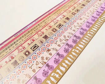 Vintage Origami Lucky Star Paper Strips Mixed Print Star Folding DIY - Pack of 160 Strips
