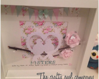 Sisters birds of a feather frame