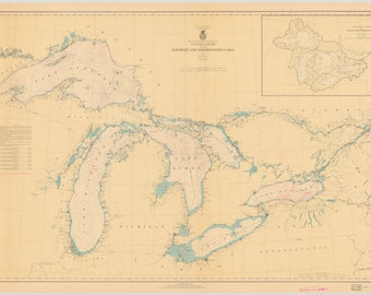 Great Lakes Map 1938