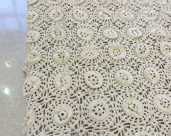 Vintage style hand made table cloth