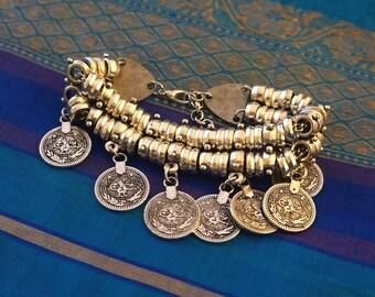 Flower Coin Bracelet