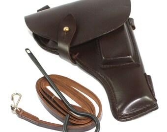 Original Soviet Tokarev TT-33 pistol belt holster with accessories Dated