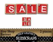 INSTANT DOWNLOAD - Etsy Shop Banner - 'Sale' Banner for your Etsy Shop