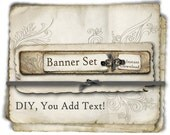 DIY - You Add the Text! Instant Download 3 piece Etsy Shop Banner Set - Banner, profile picture, reserved listing image