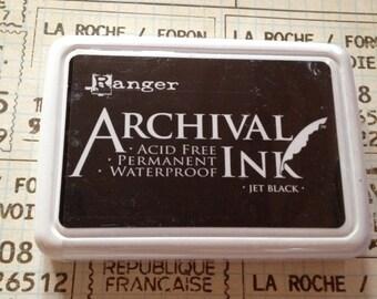 black archival ink pad