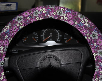 Steering Wheel  Cover.  Purple Floral Cover Wheel .Womens Cover Wheel .