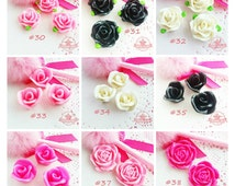 3D Miniature Sweets Deco Cabochon Rose Flower Cabochon Assorted Resin Kawaii ~T12