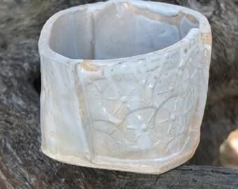 Stamped stoneware. Unique piece