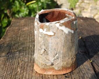 Stoneware vase. Land chamotee. Unique piece