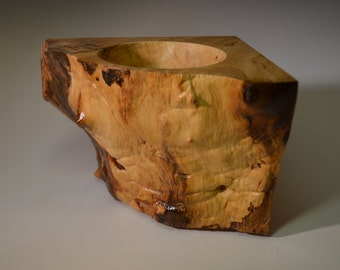 Natural edge bowl with maple wood (NEB-3)