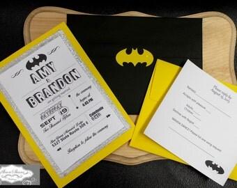 Batman Themed Wedding Invitations