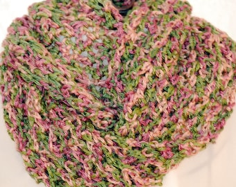 Rose Garden Crochet Infinity Scarf or Cowl