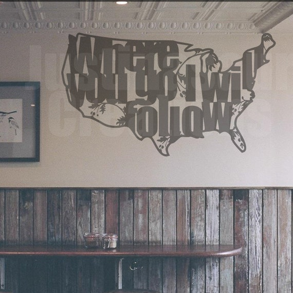 Usa/Where you go I will follow SVG STUDIO Ai EPS Cutting files instant download cricut  silhouette commercial use sure cuts a lot scal