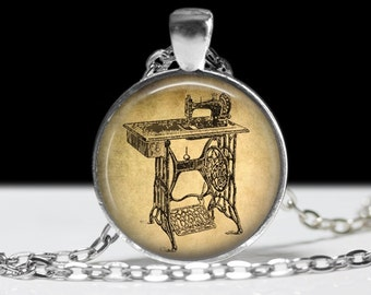 Sewing Jewelry Sewing Necklace Sewing Machine Form Pendant Charm