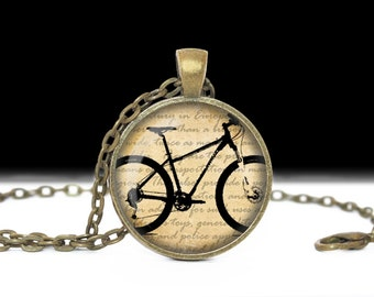 Bicycle Jewelry Wearable Art Bicycle Necklace Bicycle Pendant Charm