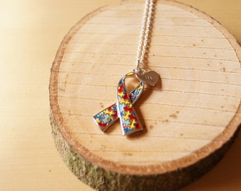 Autism Awareness Necklace, Personalized Necklace, Asperger's Awareness Necklace, Handmade Necklace