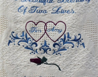 Personalized Wedding Throws
